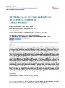 The Influence of Exercise and Caffeine on Cognitive Function in ...