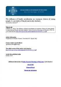 The influence of family socialization on consumer choices of young ...