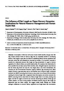 The Influence of Fish Length on Tissue Mercury ... - BioMedSearch