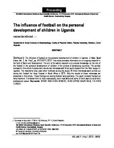 The influence of football on the personal development of ... - Core