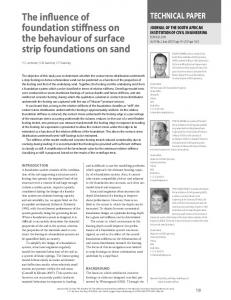 The influence of foundation stiffness on the behaviour