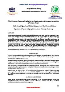 The influence of gamma irradiation on the chemical and ... - iMedPub