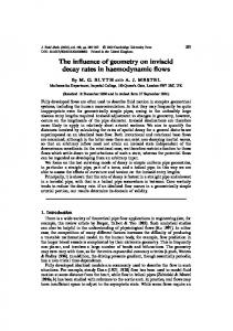 The influence of geometry on inviscid decay rates in ... - UEA