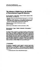 The Influence of Halide Ions on the Kinetics of