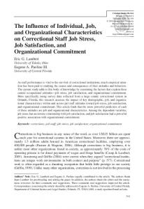 The Influence of Individual, Job, and Organizational Characteristics on ...