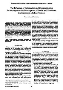 The Influence of Information and Communication Technologies on the ...
