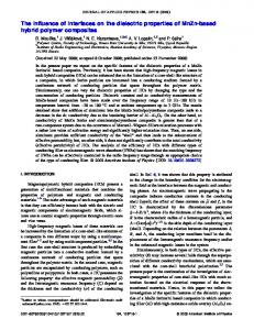 The influence of interfaces on the dielectric properties