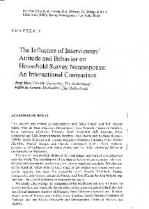The influence of interviewers' attitude and behavior on ... - Joop Hox