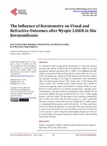The Influence of Keratometry on Visual and Refractive Outcomes after ...