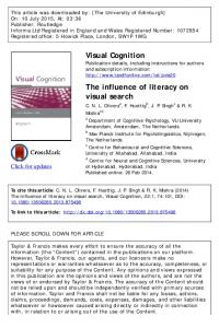 The influence of literacy on visual search