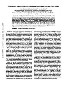 The influence of magnetic fields on the gravitational-wave emission ...