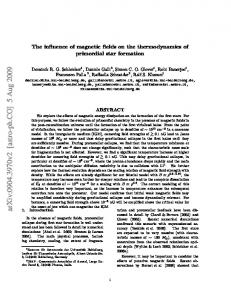 The influence of magnetic fields on the thermodynamics of primordial ...