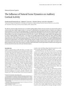 The Influence of Natural Scene Dynamics on ... - Princeton University