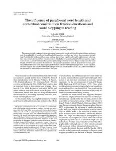 The influence of parafoveal word length and