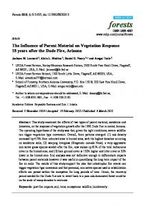 The Influence of Parent Material on Vegetation Response 15 ... - MDPI