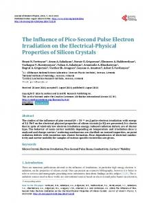 The Influence of Pico-Second Pulse Electron Irradiation on the ...