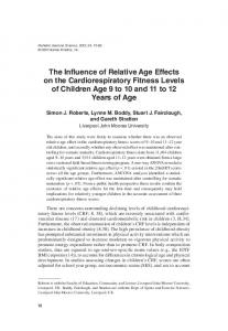 The Influence of Relative Age Effects on the ... - Semantic Scholar
