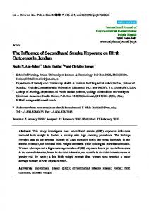 The Influence of Secondhand Smoke Exposure on Birth ... - MDPI