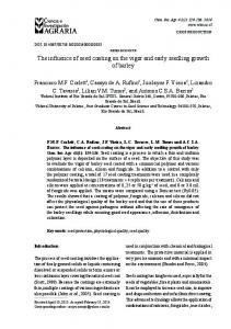 The influence of seed coating on the vigor and early seedling growth ...