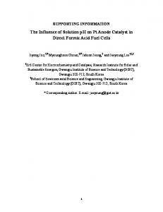 The Influence of Solution pH on Pt Anode Catalyst in