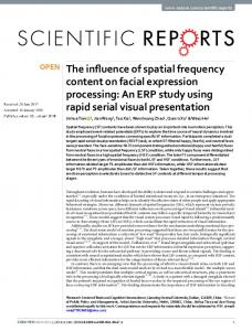 The influence of spatial frequency content on facial ... - Nature