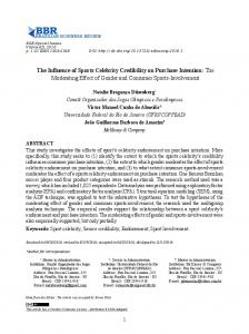 The Influence of Sports Celebrity Credibility on Purchase Intention ...