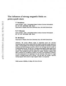 The influence of strong magnetic fields on proto-quark stars