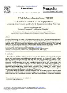 The Influence of Students School Engagement on Learning ... - Core