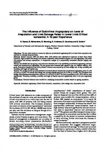The Influence of Subintimal Angioplasty on Level of Amputation and ...