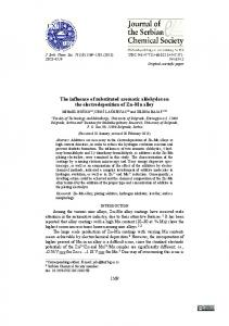 The influence of substituted aromatic aldehydes on the ...