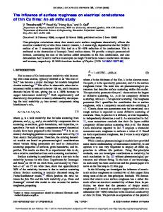 The influence of surface roughness on electrical conductance of thin ...