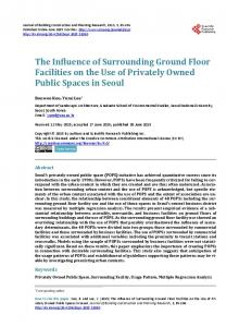 The Influence of Surrounding Ground Floor Facilities on the Use of