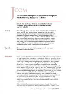 The influence of temperature on #ClimateChange and