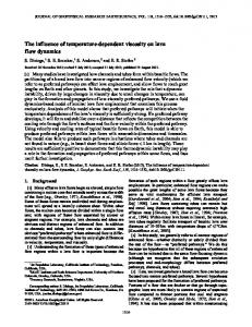 The influence of temperaturedependent viscosity on