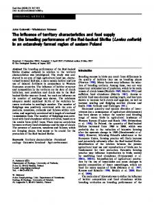 The influence of territory characteristics and food supply on the ...