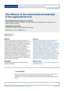 The influence of the transformational leadership in the