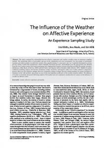 The Influence of the Weather on Affective Experience