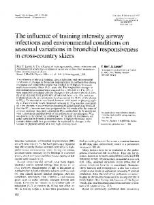 The influence of training intensity, airway ... - Wiley Online Library
