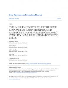 the influence of trp53 in the dose response of radiationinduced ...