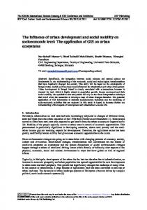 The influence of urban development and social mobility on