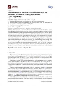 The Influence of Various Distraction Stimuli on Affective ... - MDPI