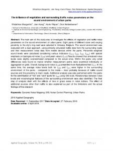 The influence of vegetation and surrounding traffic noise parameters ...