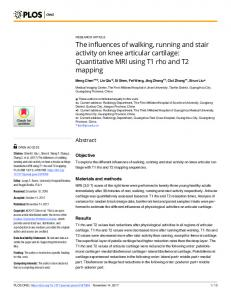 The influences of walking, running and stair activity ... - Semantic Scholar