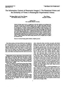 The Information Content of Panoramic Images I: The Rotational Errors ...