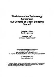 The Information Technology Agreement - World Trade Organization