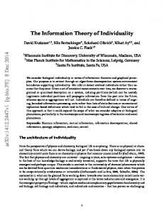 The Information Theory of Individuality