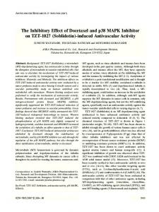 The Inhibitory Effect of Docetaxel and p38 MAPK Inhibitor on TZT-1027