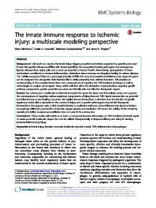 The innate immune response to ischemic injury - BMC Systems Biology