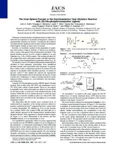 The Inner-Sphere Process in the Enantioselective ... - ACS Publications