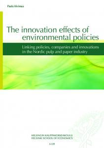 The innovation effects of environmental policies